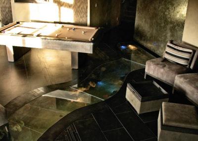 Custom Pool Table with Underground Fish Tank
