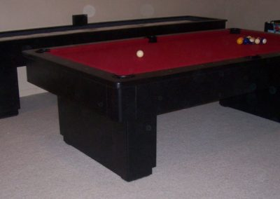 Matching Metro Style Pool Table and Shuffleboard Table - Rich Aunilia