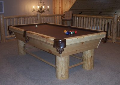 Pine Style Pool Table