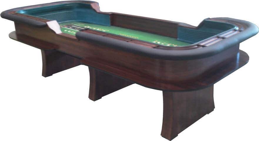 10′ Casino Style Craps Table