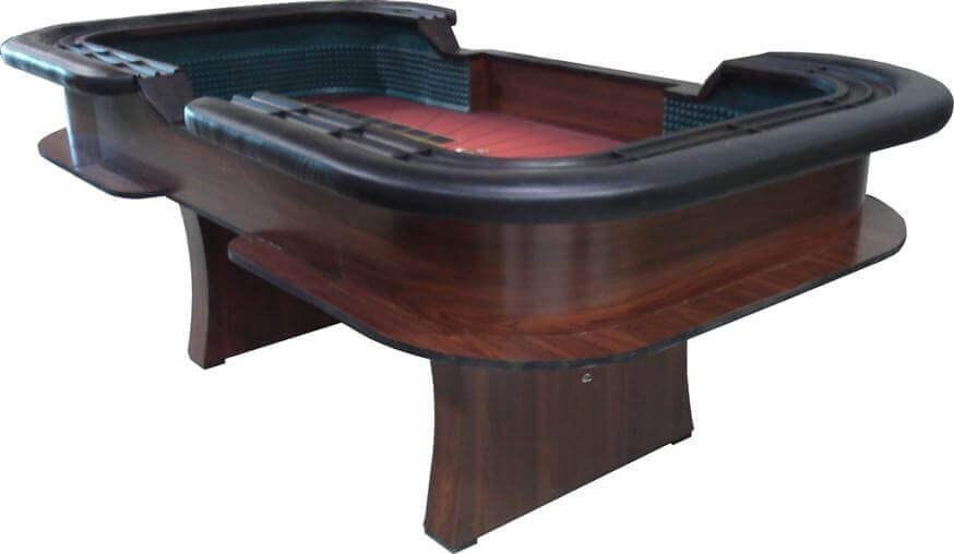 8′ Casino Style Craps Table