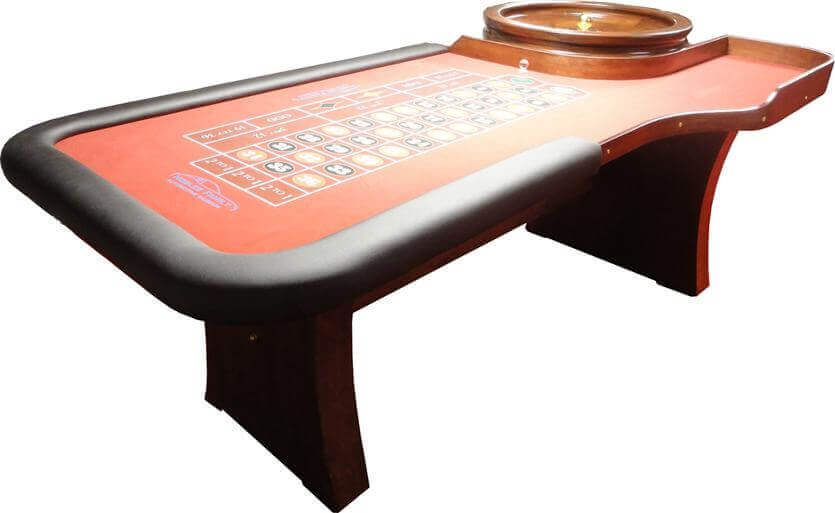 8′ Casino Style Roulette Table