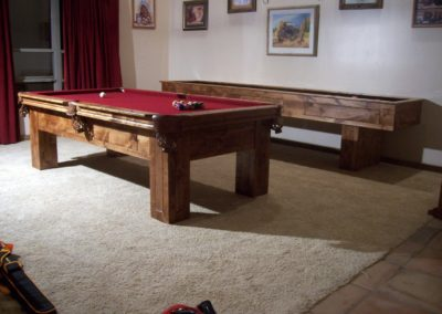 Matching Pool Table and Shuffleboard Table