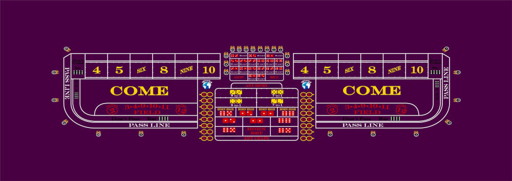 6 Party Style Craps Table Custom Manufacture Of Table Games