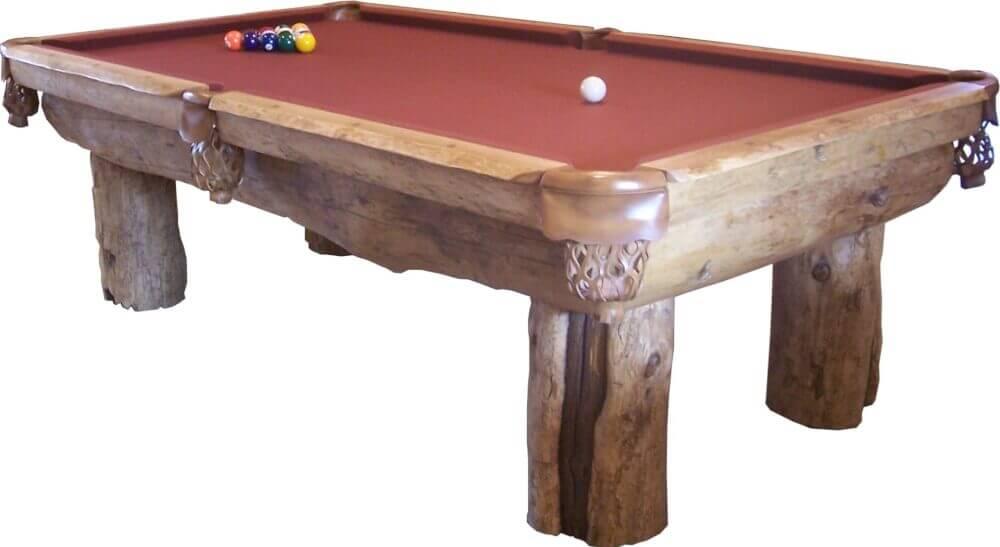 Log Pool Table For Sale US Ponderosa Pine AZ Handmade Tables - Handmade pool table