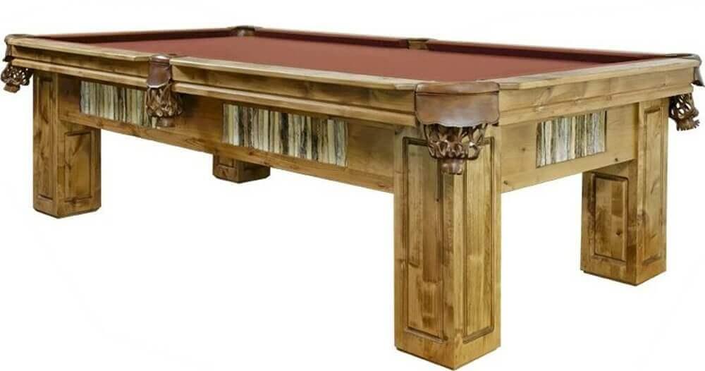 Six Foot Saguaro Log Pool Table