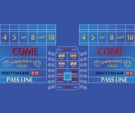 8 Foot Casino Craps Layout Blue Color