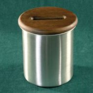Baccarat Discard Can and Wood Lid with Stainless Steel Can