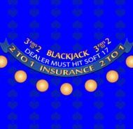 Casino Blackjack Layout Blue Dealer Must Hit Soft 17