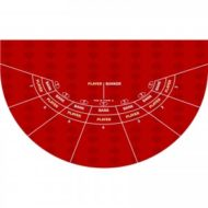 Casino Mini Baccarat Layout Red
