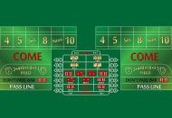 Craps Layout 10 Foot Green