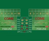 Craps Layout 8 Foot Green