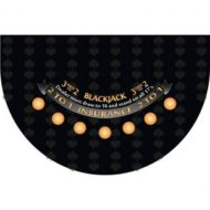 Blackjack Layout Black Felt