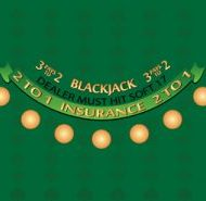 Blackjack Layout Green Felt