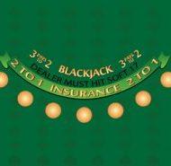 Blackjack Layout Green Dealer Must Hit Soft 17
