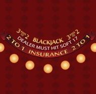 Blackjack Layout Soft 17 Burgundy