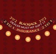 Blackjack Layout Soft 17 Burgundy